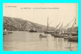 A823 / 063 06 - MENTON Port Et Frontiere Franco Italienne - Menton