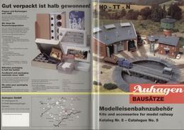 Catalogue AUHAGEN Modelleisenbahnzubehör Bausätze Katalog Nr 5 1997  - En Allemand Et En Anglais - Allemand