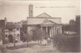 LORIENT :T.RARE VUE DE L EGLISE ST.LOUIS ET PLACE BISSON.N.CIRCULEE .N° 67 T.B.ETAT PETIT PRIX. COMPAREZ!!! - Lorient
