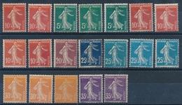 "DK-185: FRANCE: Lot   Avec ""SEMEUSES CAMEES"" * N°135(2)-137(3)-138(4)-139-140(4)-141(3)-142(2) - 1906-38 Semeuse Camée"