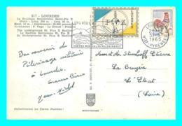 A745 / 033 Vignette LOURDES Timbre - Marcofilia (sobres)