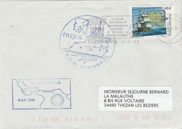 TCD FOUDRE GAP 2000 Fréjus - Mer D' Oman - Enveloppe 2 - Storia Postale