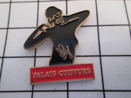 716c Pin's Pins / Beau Et Rare / THEME : MARQUES / SILHOUETTE FEMININE PALAIS COIFFURE - Marques