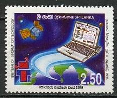 Espace 1998 Sri Lanka 1998 Y&T N°1157 - Michel N° 1181 *** - 2,50r Ordinateur - Asie