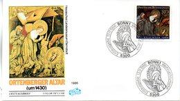 """BRD Schmuck-FDC """"Weihnachten 1986 Mi. 1303 ESSt 13.11.1986 BONN 1 - FDC: Enveloppes"""
