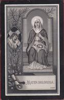 Antonius Torsin Kandidaat Notaris Zoutleeuw Litho Silverprint Zilverdruk 1911 Doodsprentje Bidprentje Image Mortuaire - Devotion Images