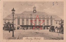 Ansichtskarte Bromberg Westpreussen Bahnhof Mit Strassenbahn 1919 - Westpreussen