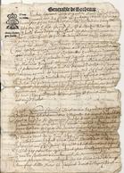 GENERALITE DE BORDEAUX . 1673 . 2 PAGES - Seals Of Generality