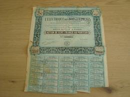 ACTION 100 FRANCS L'ELECTRIQUE DES BOIS ET CIMENTS 1928 - Transports