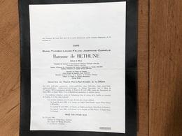 Baronne De Bethune Douairière De La Croix Pierre *1875 Alost Aalst +1960 Ukkel Laken Kortrijk Prisonnière Politique 14-1 - Overlijden