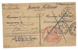 SERVICE MILITAIRE LAVIGNE PAUL AV CARNOT VILLENEUVE ST GEORGES CL 1908 1 REGIMENT GENIE  - CPA CORRESPONDANCE MILITAIRE - Régiments