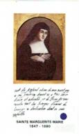 Image Religieuse Avec Relique. Sainte Marguerite-Marie. - Devotion Images