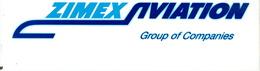 Aufkleber ZIMEX AVIATION - Stickers