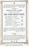 NIVELLES / NIJVEL / MECHELEN - E.H. Jean-Joseph BAGUET - Né 1704 Et Décédé 1868 - Devotion Images