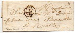 Moselle - LAC (09/11/1846) Port Local 1 Décime Tàd Type 15 Metz - Marcophilie (Lettres)
