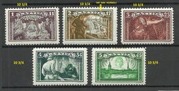 LETTLAND Latvia 1932 Michel 193 - 197 A * All Perforated 10 3/4 Incl. Mi 194 A As Better WM Position! - Lettland