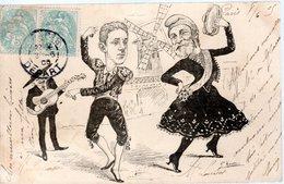 CPA FRANCE 1905 - AU MOULIN ROUGE ET EN HABITS ESPAGNOLS - - Satiriques
