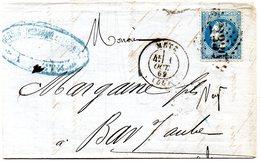 Moselle - LAC (fabrique De Chaussures) Affr N° 29B Obl GC 2336 Refaits C17 Metz - 1849-1876: Période Classique