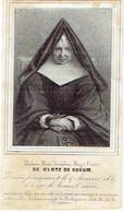 BERLAYMONT - Marie-Joséphine DE CLOTZ DE KUKUM - Fondatrice Communauté De Berlaymont - Décédée 1847 - Devotion Images