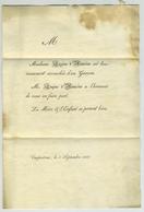 Faire Part De Naissance Envoyé Par Eugène D'Hauzier Pour Stanislas De Centenier à Pernes. Carpentras. Vaucluse. - Naissance & Baptême