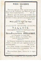 BRUXELLES / IXELLES - Auguste TALLOIS (épouxT. GUILLAUMOT) - Né 1807 Et Décédé 1871 - Devotion Images