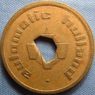 KB026-8b - AUTOMATIC HOLLAND 0 O'clock Hole - Dordrecht - B 22.0mm - Koffie Machine Penning - Coffee Machine Token - Firma's