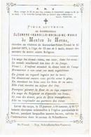 HORNE-lez-ST. TROND / HOORNE-bij-ST. TRUIDEN - Eléonore De MENTEN De HORNE - Overleden Op Het Kasteel Van HORNE 1871 - Devotion Images