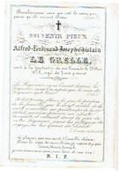LE GRELLE Alfred Ferdinand - Overleden 1872 Op De Leeftijd Van 7 Jaar 9 Maand - (Franstalig) - Devotion Images