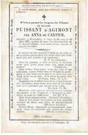 BRUXELLES / BRUSSEL - Anna De CARTIER (Madame PUISAANT D'AGIMONT) - Décédée 1872 - Devotion Images