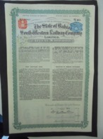 BRESIL - LOT DE 5 TITRES - THE STATE OF BAHIA SOUTH WESTERN RAILWAY - OBLIGATION DE 10 £ - 1915 - Actions & Titres