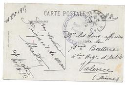 WWI COMMISSION MILITAIRE GARE DE BOURGES DE H COTE POUR SOUS OFF 6 RA VALENCE - CPA CORRESPONDANCE MILITAIRE - Guerre 1914-18