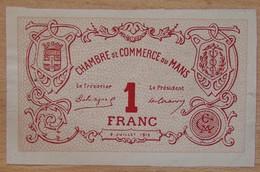 LE MANS ( 72  ) SPECIMEN 1 Franc Chambre De Commerce Du Mans 8 Juillet 1915 - Chambre De Commerce
