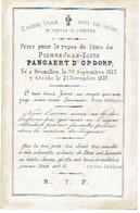 BRUXELLES / BRUSSEL - Pierre PANGAERT D'OPDORP - Né 1813 Et Décédé 1870 - Devotion Images