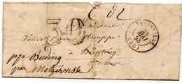 Moselle - LAC (28/05/1858) Non Affr Taxe 30DT (non Distribuée, Retour) - Tàd Type 15 Thionville - 1849-1876: Période Classique