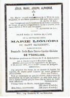 NOORDERWIJK / BRUGGE - E.Z. Cécile DE T'SERCLAES (Marie Liguori Du St Sacrement) - °1820 En + Klooster Brugge 1871 - Devotion Images