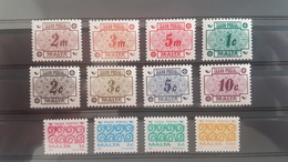 MALTE / MALTA 1973 - 1993 Cote 6 € TIMBRES TAXE N° 41 à 52 ** (MNH). TB - Malta