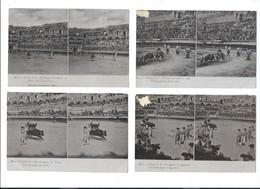13 CPA Stéréo - CORRIDA - Dos Simple 1905 - Cartoline Stereoscopiche