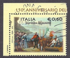 Italia / Italy - 2010 Spedizione Dei Mille, 150th Anniversary Expedition Of The Thousand, History, Used - 2001-10: Usados