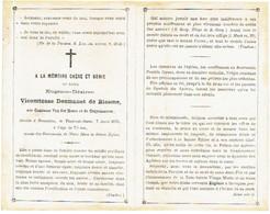 BRUXELLES - Vicomtesse DESMANET DE BIESME Eugénie - Née Comtesse VAN DER MEERE ET DE CRUYSHAUTEM - Décédée 1871 - Devotion Images