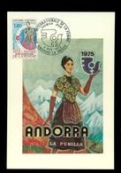 Cartes Maxιmum.ANDORRE. ANNEE INTERNATIONALE DE LA FEMME.Premier Jour 1975 - Cartas Máxima