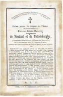 MOERZEKE - Vicomtesse DE NIEULANT ET DE POTTELSBERGHE Emérence - Décédée Au Château De Moerzeke 1870 - Devotion Images