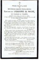 BRUXELLES - Marie Constance Comtesse De LIEDEKERKE DE PAILHE - Née Comtesse De VILLERS  - Décédée 1872 - Devotion Images