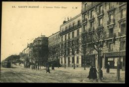 St Mandé 94 L'Avenue Victor Hogo 24 CM  Animée  Tramway Société Générale - Saint Mande