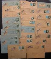 Lille Lot De 24 Lettres Recommandées Des Années 1940, Timbres Pétain, Voir Photos - 1921-1960: Modern Period