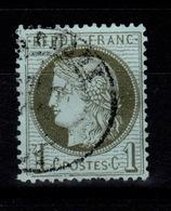 Ceres - YV 50 Oblitere, Dentelure Sud Irreguliere , Pas Aminci , Des Petites Cassures De Cadre Cote 20 Euros - 1871-1875 Ceres