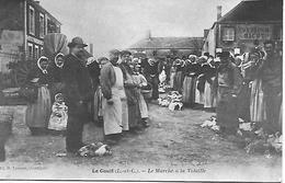 41 - LOIR ET CHER -  LE GAULT - LE MARCHE A LA VOLAILLE - EDITEUR LECOMTE COURTALAIN CARTE PAS COURANTE 2 SCANS - Francia
