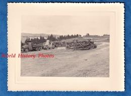 Photo Ancienne - ALGERIE - BENI MESSOUS - Chantier - 1958 - Materiel Camion Niveleuse Bulldozer Tracteur Génie Colonial - Guerre, Militaire