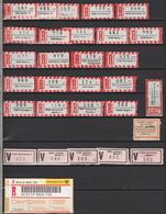 Partie R-Zettel / V-Zettel Deutschland (d1001) - R- & V- Labels