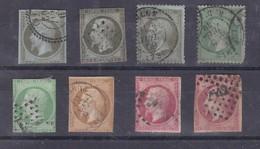 N° 11x2  N°12  N°13  N°16  N°17  N°19  N°20  Tous états - 1853-1860 Napoléon III