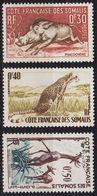 FRANZ.SOMALIA [1658] MiNr 0314-16 ( **/mnh ) Tiere - Französich-Somaliküste (1894-1967)